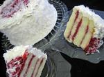 White Coconut Raspberry Torte
