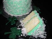 Undecorated Green Coconut Cake
