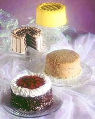 Lemon Sunshine Cake, Chocolate Mousse Torte, German Chocolate Cake and Black Forest Cake