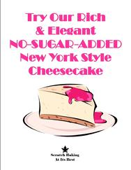 No-Sugar-Added Cheesecake Sign