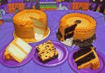 Wicked White Cake, Haunted Chocolate Cake and Bewitched Brownies